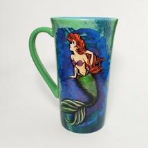"Disney Store Little Mermaid Art of Ariel Cup Green 6"" Tall Large Tea Mug... - $38.56"