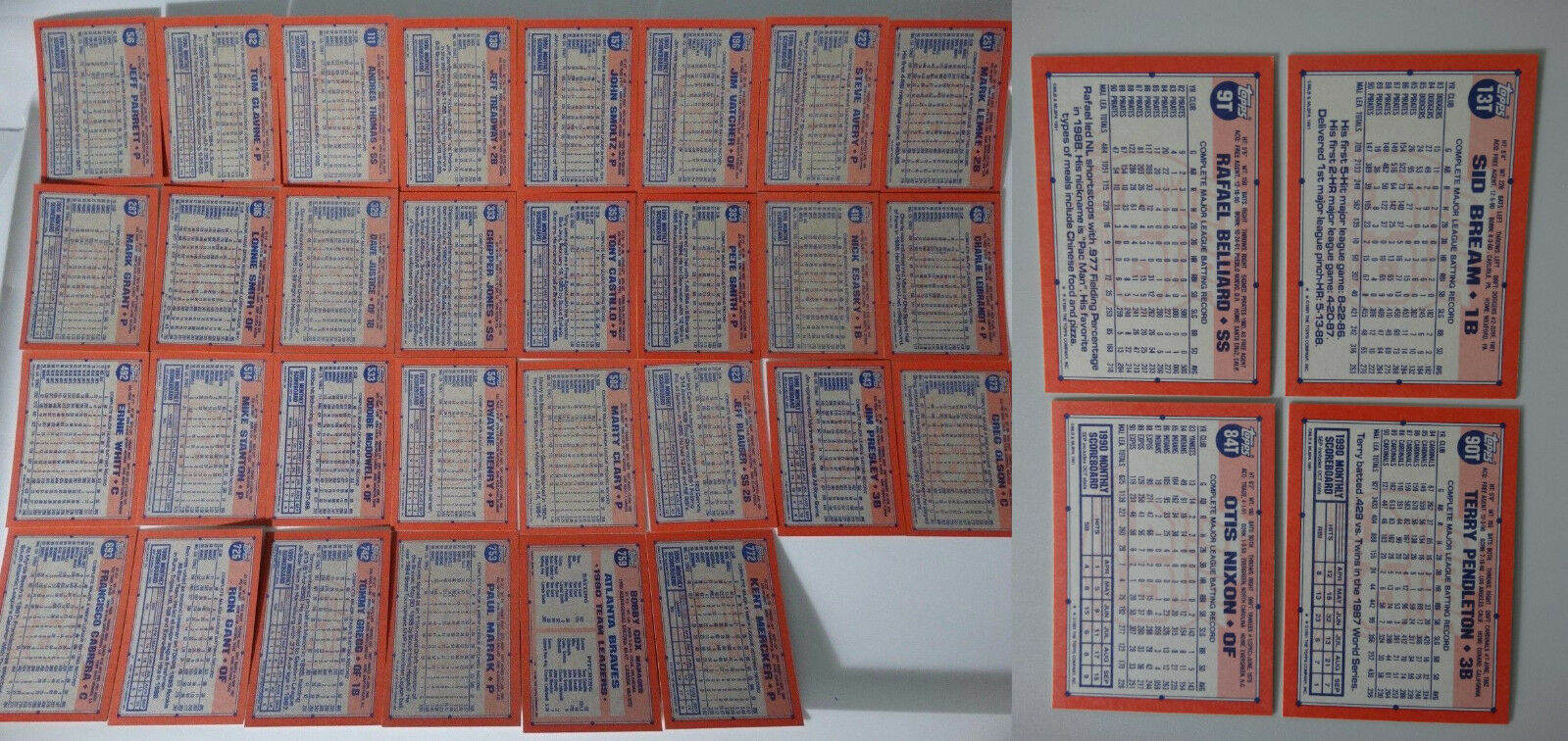 1991 Topps Atlanta Braves Team Set of 34 Baseball Cards With Traded image 3