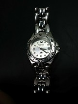 Fossil Blue AM-3573 All Stainless Steel Quartz Analog Ladies Watch With ... - $13.86