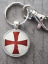 Knights Templar Key Chain  image 1