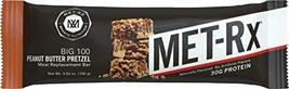 MET-Rx Big 100 Colossal Protein Bar, Peanut Butter Pretzel, 100 g (9 count), Hig - $28.37