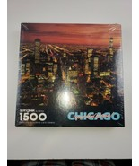 """SPRINGBOK 1500 piece puzzle, """"Chicago, Your Kind of Town"""".New sealed box - $33.25"""