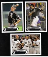2012 Topps Chicago WHITE SOX Team Set Both Series 1 & 2 (19 cards) - $3.00