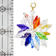Clear Crystal Snowflake Ornament image 2