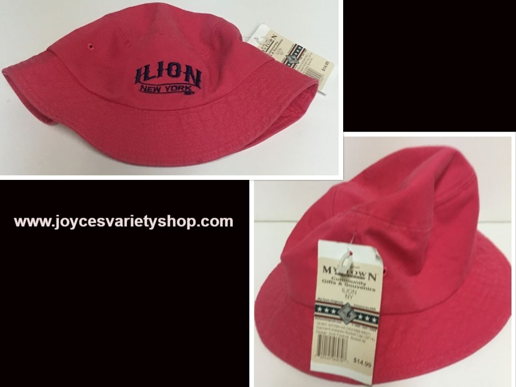 Ilion New York Pink Bucket Hat My Town Community Souvenirs Adult Size NWT