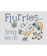 Flurries Post Stitches cross stitch chart with charm Sue Hillis Designs - $5.40