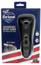 Barbasol Rechargeable Rotary Shaver w/Stainless Steel Blades Pop Up Trim... - $14.24