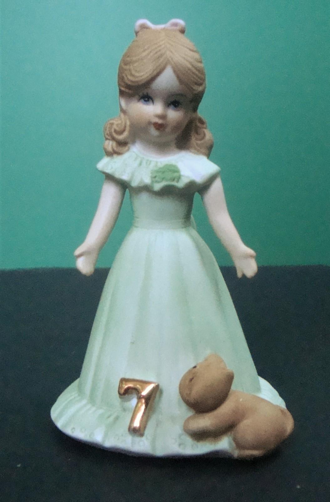 Enesco Growing Up Birthday Girls Age 7, No Box - $6.99