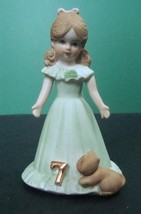 Enesco Growing Up Birthday Girls Age 7, No Box - $7.99