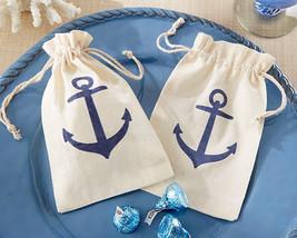 Voyages Navy Blue Anchor Nautical Muslin Birthday Pary Bridal Wedding Fa... - $85.45+