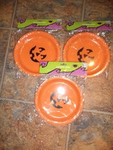 Set of 3 Pumpkin Plastic Plates - NEW - $1.97