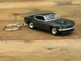 1969 Ford Mustang Boss 429 Key Chain Car, Xmas, Birthday and Anniversary Gift - $24.75