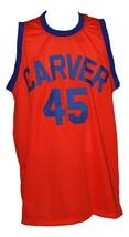 White Shadow TV Warren Coolidge Carver High Basketball Jersey Orange Any Size image 3