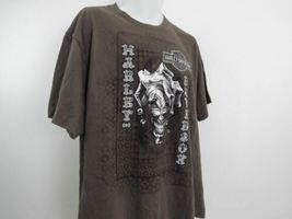 Harley Davidson T Shirt Mens Extra Large XL Brown Fond Du Lac Wisconsin image 4