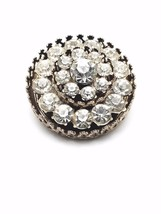 Vintage Signed Coro Gold Tone Crystal Brooch image 1