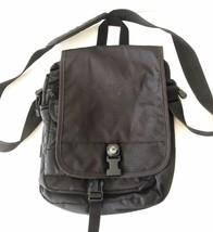 "VTG Vintage 1998 High Sierra Black Hiking Messenger Crossbody Bag 11"" EUC - $59.99"
