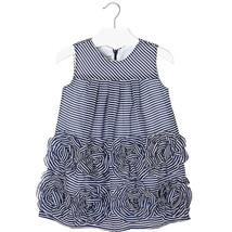 Mayoral Little Girls 2T-9 Stripe Chiffon Bonaz Rosette Border Social Dress