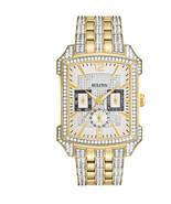 Bulova Men's Crystal Stainless Steel Quartz Watch 98C109 - $400.99