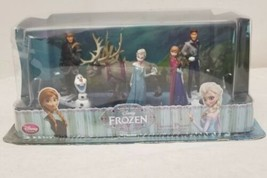 DISNEY STORE FROZEN MOVIE FIGURE PLAYSET CAKE TOPPER ANNA ELSA OLAF KRIS... - $19.99