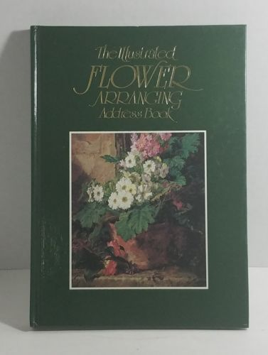 Address Book with illustrated flower arranging