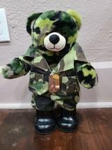 Build a Bear Camo Bear with Army Uniform - $19.34