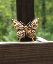 Vintage Crown Trifari Modern Mosaics Butterfly Brooch, Amber - $888.00
