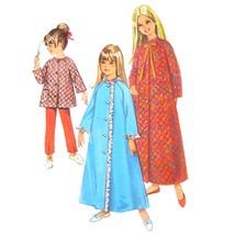 1960s Vintage Simplicity Sewing Pattern 7371 Girls Robe Pajama Top Pants... - $6.95