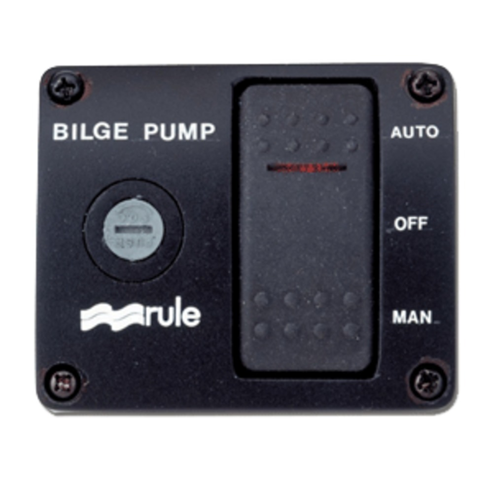 Rule Deluxe 3-Way Lighted Rocker Panel Switch