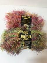 2 Skeins Fun Fur Prints Lion Brand 1.5 oz Eyelash Confetti  - $8.79