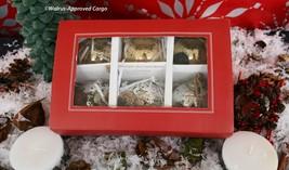 POTTERY BARN MERCURY GLASS BALL ORNAMENTS (6) –NIB- SILVER AND GOLD TREA... - $49.95