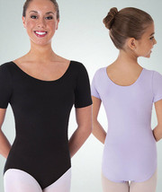 Body Wrappers BWP222 Black Women's XSmall (2-4) Short Sleeve Ballet Cut Leotard - $17.81