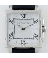 Hamilton Ss Damen Jazzmaster Quarz Uhr Lederband H322910 Diamant Akzent ... - $496.02