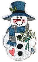 BeyondVision Country Christmas Snowman - Winter Bouquet Embroidered Iron... - €11,07 EUR