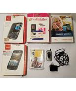 Lot of 5 Cell Phone Samsung LG Huawei Kyocera New and Used Verizon Tmobi... - $74.25