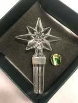 Waterford crystal star stopper 4.5 inch wine liquor barware vintage - $34.64