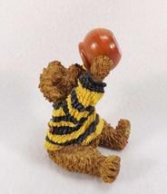 Adorable Vintage Boyds Bears FIGURINE-EATING Honey Bearware Black Yellow Sweater - $11.99
