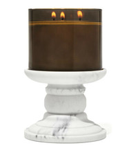 (1) Bath & Body Works Marble Pedestal 3 Wick Candle Holder Stand Only - $29.99