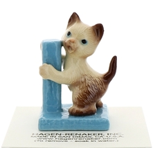 Hagen-Renaker Miniature Cat Figurine Siamese Kitten at Scratching Post