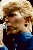 David Bowie Close-Up Pose in Blue Shirt in Concert 1980's 18x24 Poster - $23.99