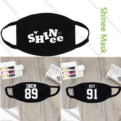 SHINee Mouth Mask Muffle K-POP JongHyun KEY Minho Onew Taemin KPOP Face Mask for sale  USA