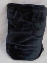 INDIGO INKY BLUE MICROFIBER FLEECE THROW Blanket 50 x 60 ULTRASOFT PLUSH - $22.23 CAD