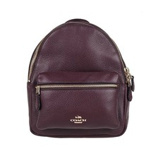 NEW COACH (F38263) OXBLOOD MINI CHARLIE PEBBLED LEATHER BACKPACK BAG - $148.00