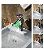 Third Gear Cartridge Water-saving Color Changing LED Waterfall Bathroom Sink Fau - $287.05
