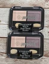 Jordana Set of 2 Eye Shadow #ES/34 Pastel Peach/Heather New Sealed 0.078 oz Each - $9.89