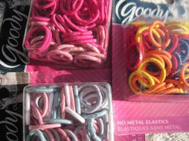 50 Goody Girls Small No Metal Ouchless Hair Band Elastics 2013 Ponytail Holders - $8.00