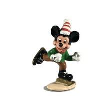 Disney Mickey Mouse Christmas Hat Ice Hockey Skating Applause PVC Figure - $19.79