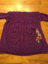 Arizona Girl's Purple Halter Top Shirt / Blouse Size: Medium image 2