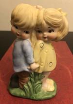 Vintage Ceramic Boy& Girl Figurines - $9.90