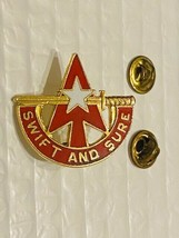 US Military Air and Missile Defense Cmd Unit Insignia Pin - Swift and Sure - $10.00