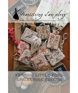 Festive LIttle Fobs: Springtime #2 cross stitch chart Heartstring Samplery - $9.00